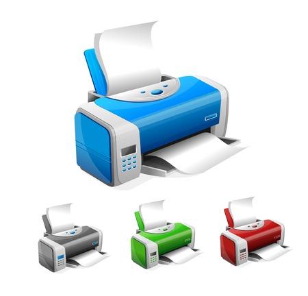 laser printer: Vector printer Illustration