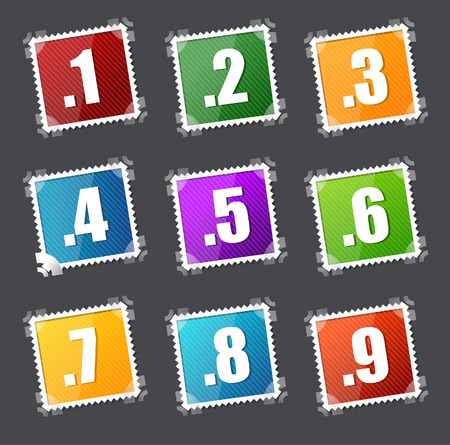 Numbers spamps set Vector