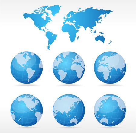 zeměkoule: Vector mapa světa koncept
