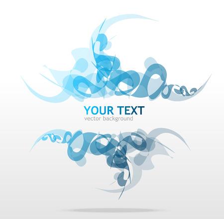 Blue vector ornament for text Vector