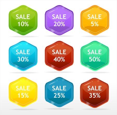 Vector sale labels Vector
