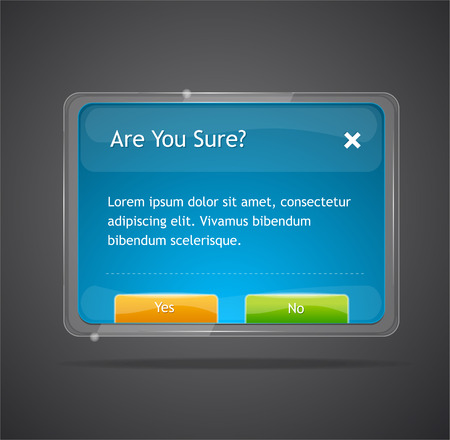 popup: Vector frame yes no Illustration