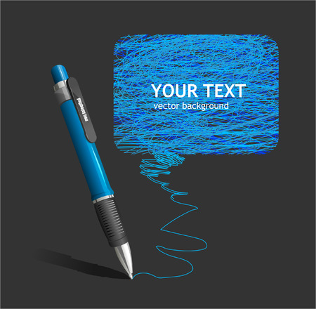 Vector pen text box Illustration