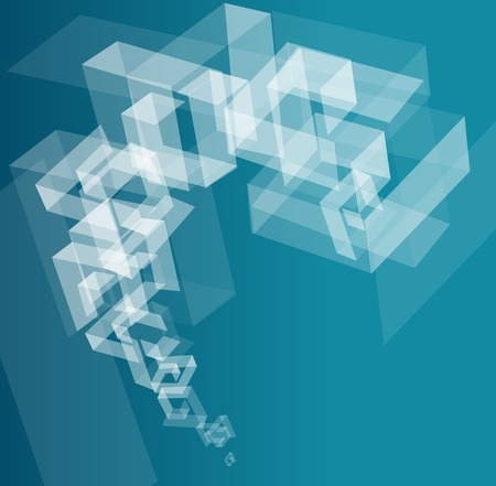 digital art: Abstract geometric template for text Illustration