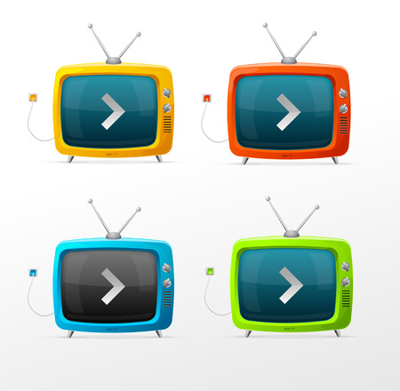 old television: Tv vector set