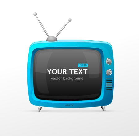 retro tv: Tv vector blank