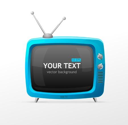 television antigua: Tv vector en blanco Vectores