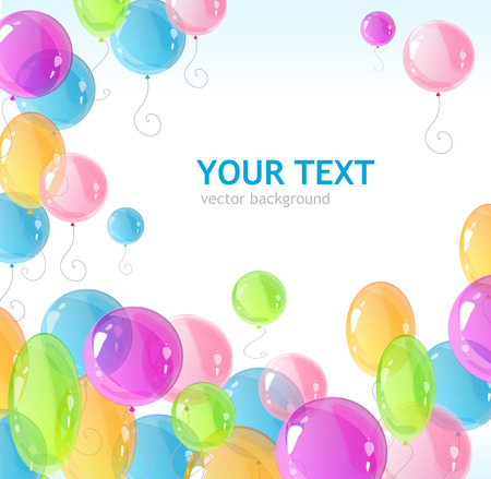 happy feast: Vector background with balloons