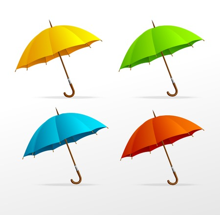 rainy days: Vector umbrellas set