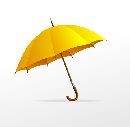 yellow umbrella: Vector yellow umbrella isolated Illustration