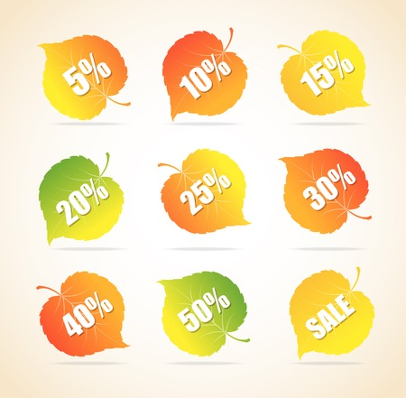 Autumnal vector discount leaves Vector