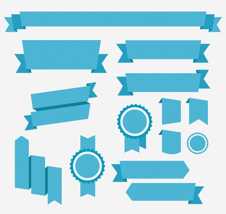 blue ribbon: Blue ribbons set