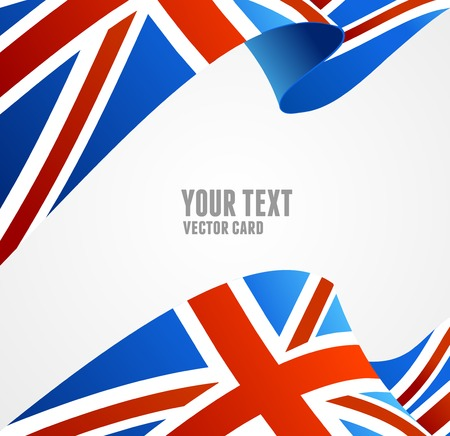 Flag of UK isolated on white Çizim