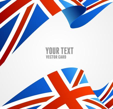 Vlag van het Verenigd Koninkrijk op wit wordt geïsoleerd Stock Illustratie