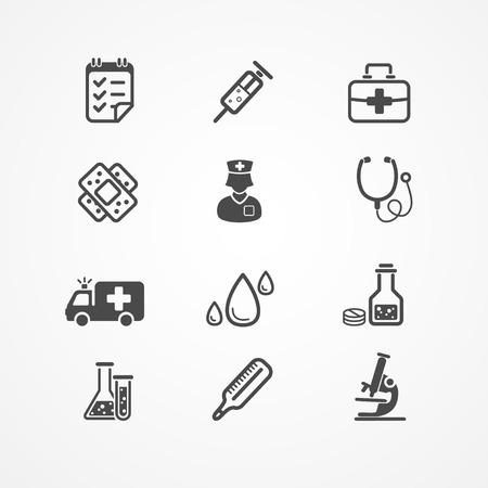 nurses: Medical Icons set on white background
