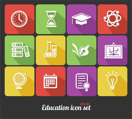chemically: education icons set