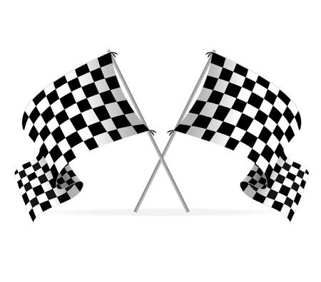 ベクトル レース旗  イラスト・ベクター素材