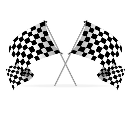 car race: Vector Racing flags Illustration