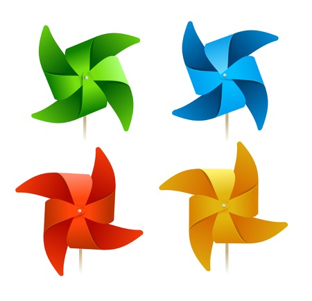 vector colorful windmills Vector