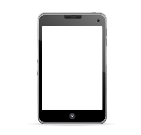 Realistic mobile phone with blank screen Vector