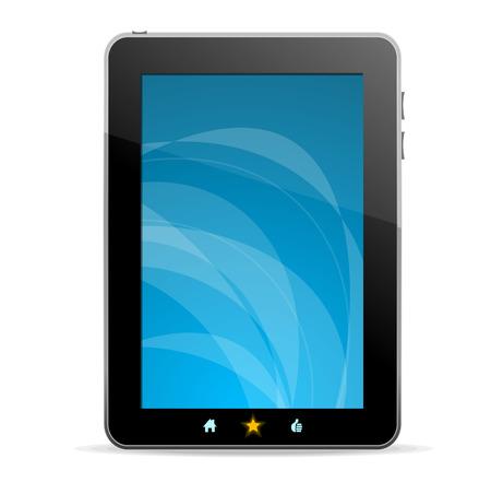 tactile: Black tablet like Ipade on white background