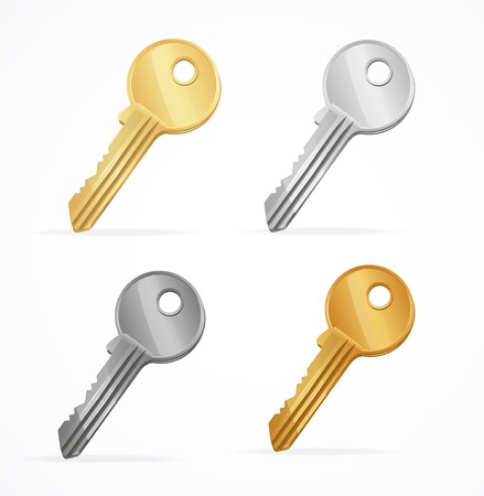 unsubscribe: Vector Golden Keys set