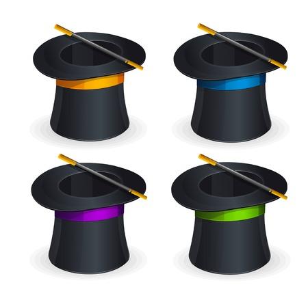 conjuring: Magic hats vector set