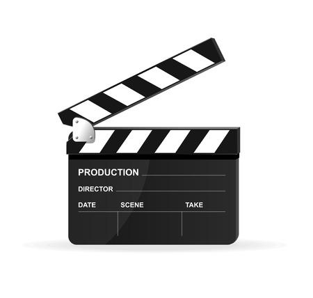 movie clapper: Vettore filmato ciak Vettoriali