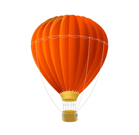 air sport: Vector red air ballon isolated on white Illustration