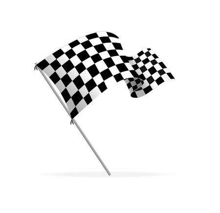 race start: Vector Racing flag Illustration