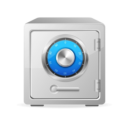 combination safe: Vector metal safe icon. Security concept Illustration