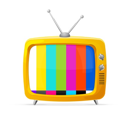 tv: Illustration of retro tv