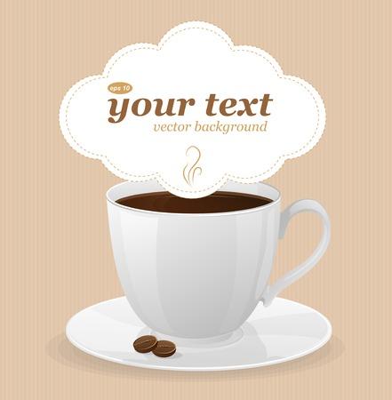 Vektor weißen Tasse Kaffee und Text