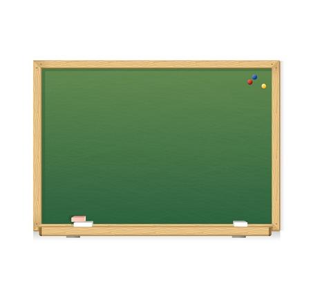 Vector green chalkboard