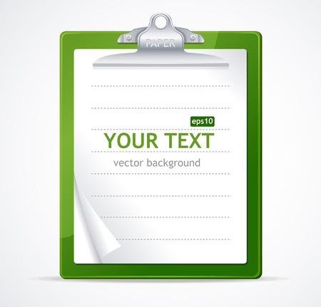 checklist: Vector illustration of check list text Illustration