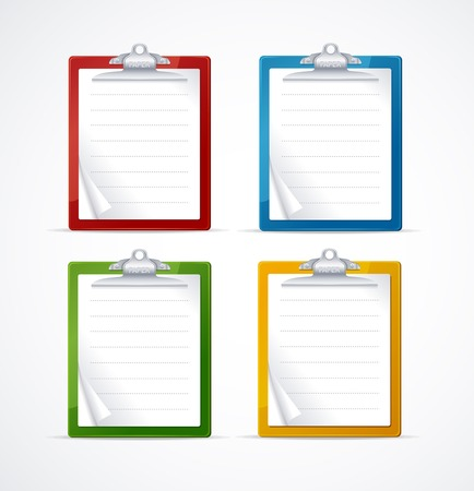 Vector illustration of check list icon set Vector