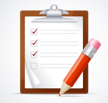 Vector illustration of check list Vector