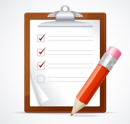 list: Vector illustration of check list Illustration