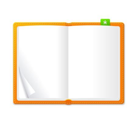 personal organizer: Vector open personal organizer book Illustration