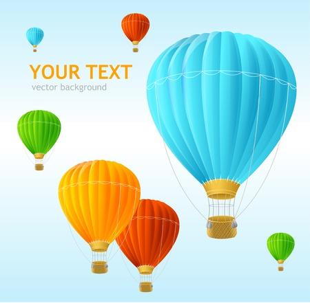 Vecteur ballons de fond dans l'air Banque d'images - 28769434