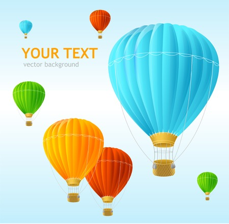 hot air balloon: Vector air ballons background Illustration