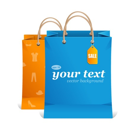 Vector paper shopping bag text area Vector