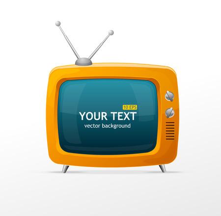 Vector orange TV blank on white background Vector