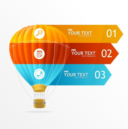 speech ballons: Vector text boxes, modern infographics options banner