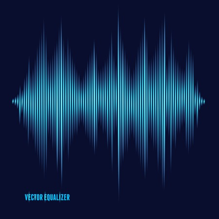 Vector equalizer, colorful musical bar. Dark background
