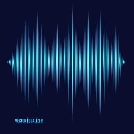 Vector equalizer, colorful musical bar. Dark background