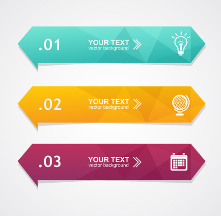 text boxes: Vector colorful text boxes, trendy colors. Infographic background
