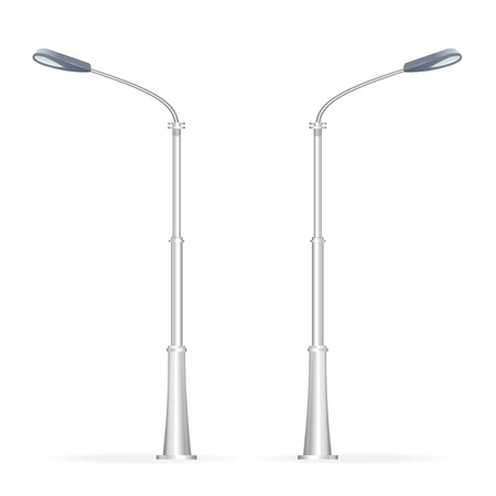 light source: Street lamp isolated on white, electricity oblect