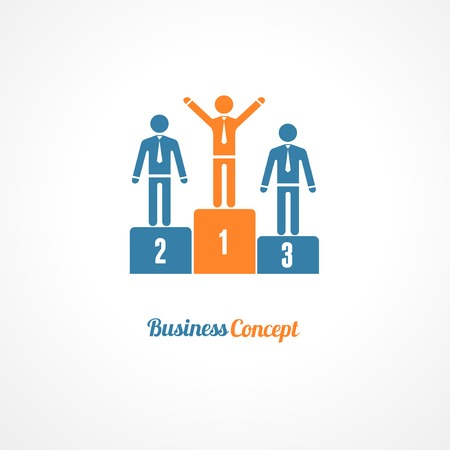 podium: Winners Podium Symbol Vector Illustration. Business concept.
