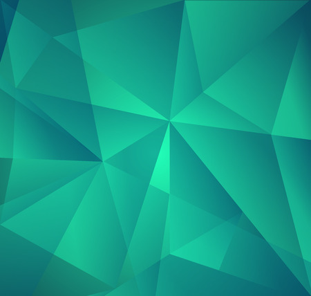 bitmaps: Vector Abstract Green Triangle Background. Mosaic backdrop